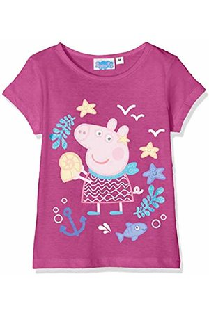 Peppa Pig Girl's T-Shirt, ( Acai)