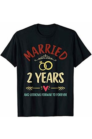 Medotukito 2nd Wedding Anniversary Married Looking Forward To Forever T-Shirt