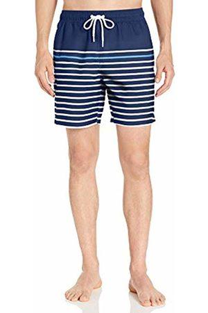 """Amazon 7"""" Stripe Swim Trunk Small"""