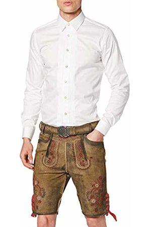 Stockerpoint Men's Hose Aron Lederhosen, Hanf Gespeckt Rot