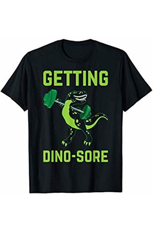 T-Riffic T Rex Gifts & Happy Dino T Shirt Co. Getting Dino-Sore Funny T Rex Dinosaur Workout T-Shirt