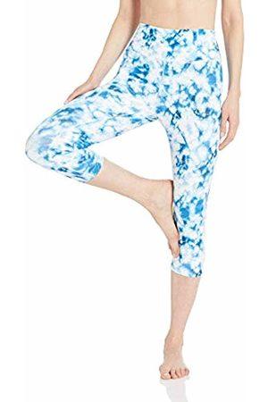 CORE Spectrum High Waist Capri Legging-21 Yoga Pants, /Navy Tie Dye