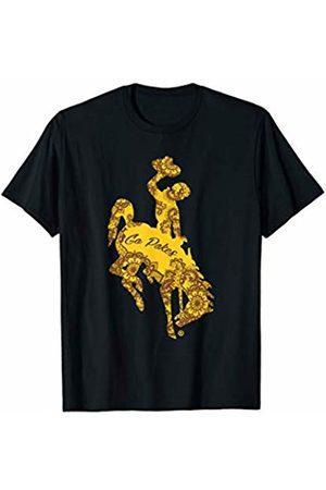 FanPrint Wyoming Cowboys Mandala And Slogan Inside Logo T-Shirt