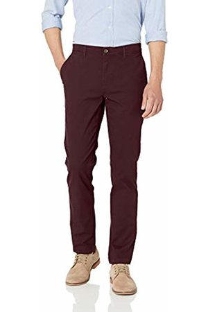 Amazon Essentials Skinny-Fit Broken-in Chino Pant Burgundy