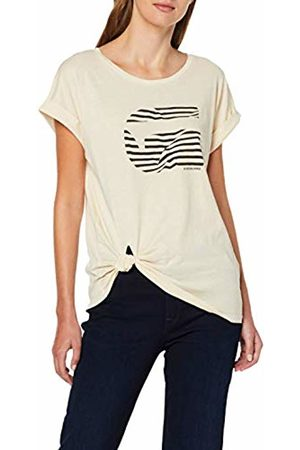 G-Star Women's Graphic 23 Caper Knotted Cap Sleeve Round Neck T-Shirt