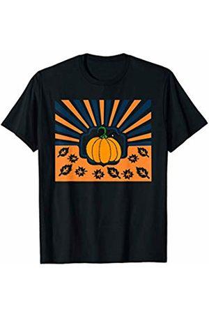 Hadley Designs Vintage Retro Pumpkins Autumn Fall for Women Cute Halloween T-Shirt