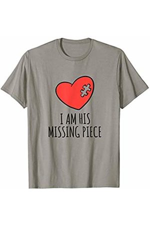 His and Her Matching Couples Gift Apparel Matching Couples Shirt Her His Gifts I Am His Missing Piece T-Shirt