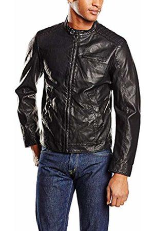 Benetton Men's Faux Leather Jacket