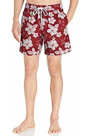 """Amazon 7"""" Print Swim Trunk Hibiscus"""