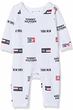 Tommy Hilfiger Boys' Baby All Over Print Coverall L/s Shaping Bodysuit, Bright 123