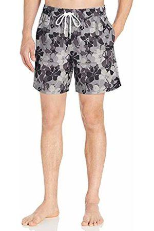 "Amazon 7"" Print Swim Trunk Charcoal Floral Camo"