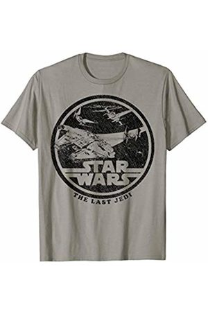 STAR WARS Last Jedi Falcon Tie Fighter Space Battle T-Shirt