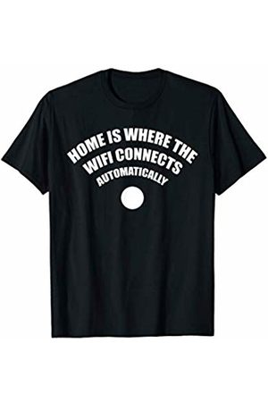 Miftees Home Is Where The Wifi Connects Automatically funny T-Shirt