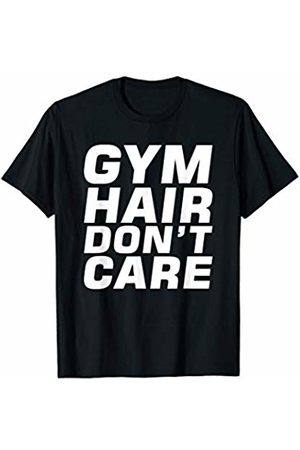 Elite Workout Fitness Collections Cute Gym Hair Don't Care Funny Fitness Exercise Design White T-Shirt