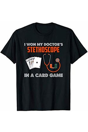 FanPrint Miami Hurricanes Won My Stethoscope T-Shirt - Apparel