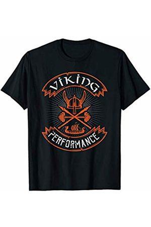 Powerlifting Weightlifting Gym T Shirt Viking Performance Strongman Weightlifting Training Gym T-Shirt