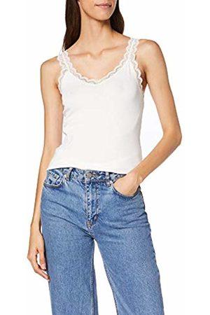Tom Tailor Casual Women's Top Mit Spitze Vest, (Whisper 10315)