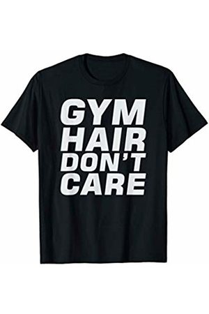 Elite Workout Fitness Collections Cute Gym Hair Don't Care Funny Fitness Exercise Design T-Shirt