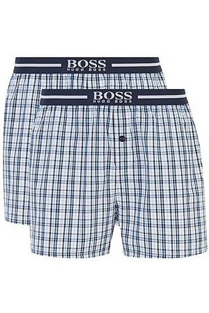 HUGO BOSS Two-pack of pyjama shorts in woven cotton poplin