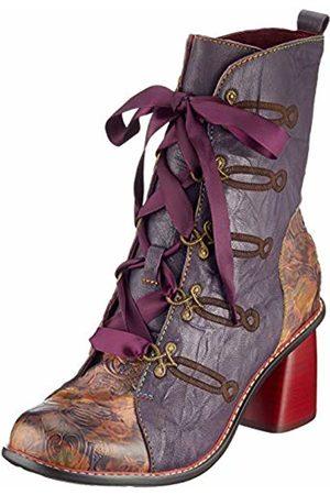 LAURA VITA Women's Evcao 01 Ankle Boots, Violet