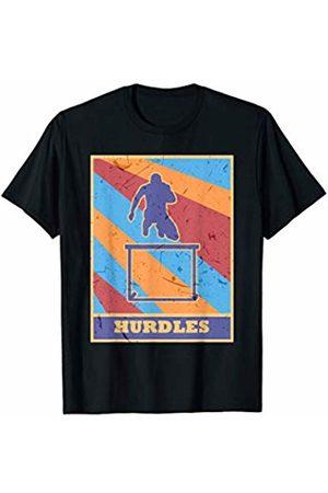Family Men Women Kids Hurdles Team Gifts Idea Hurdles Vintage Retro Colors Track And Field Running Jumper T-Shirt