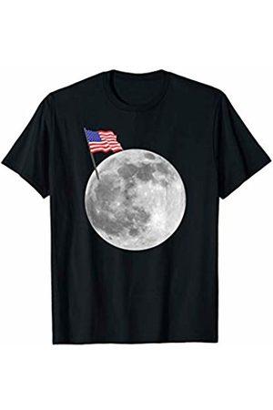 Miftees Apollo 11 50th Anniversary Moon Landing USA Flag on Moon T-Shirt