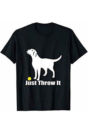 NickerStickers Just Throw It | Labrador Retriever T-Shirt