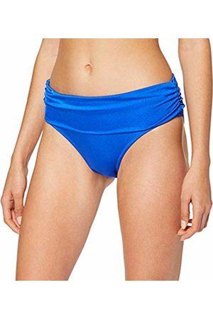 Pour Moi Women's Azure Fold Over Ruched Brief Bikini Bottoms, Deep