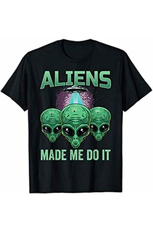 215f4074 Aliens Made Me Do it Funny Aliens Head Graphic Sarcastic T-Shirt