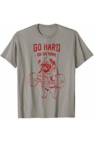Pugsgym Go Hard or Go Home Pug Gym T-Shirt