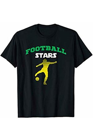 New football sport graphic funny tee from Anymodji Football stars on cool best summer graphic tee mens womens T-Shirt