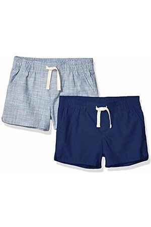 Amazon 2-Pack Pull-On Woven Shorts Navy/Chambray