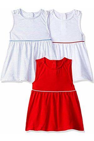Mothercare Girl's Stripe/Red/White 3Pk Vest (Multi 1)
