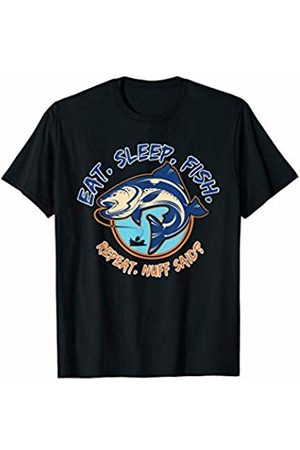 Design Tribe - Fish Commando Women Nightdresses & Shirts - Eat - Sleep - Fish - Repeat, Funny Fishing Shirt