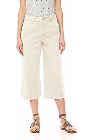Daily Ritual Washed Chino Wide Leg Crop Casual Pants