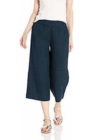 Daily Ritual Women Wide Leg Trousers - Linen Wide-Leg Crop Casual Pants