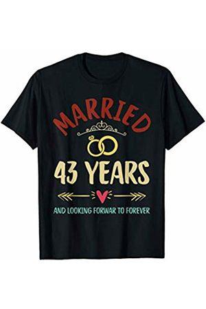 Medotukito Women T-shirts - 43rd Wedding Anniversary Married Looking Forward To Forever T-Shirt