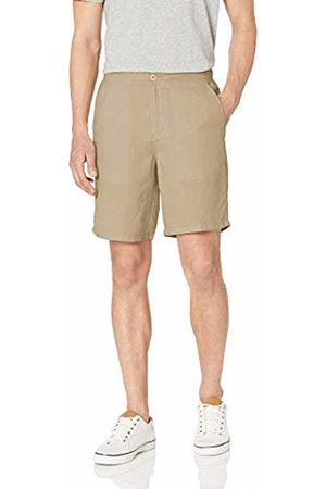 "Amazon Slim-Fit Flat-Front Linen Short - 9"" Casual"