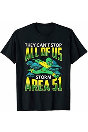 Tropique Storm Area 51 Gift Apparel They Can't Stop All of Us! Storm Area 51 Alien Runner T-Shirt