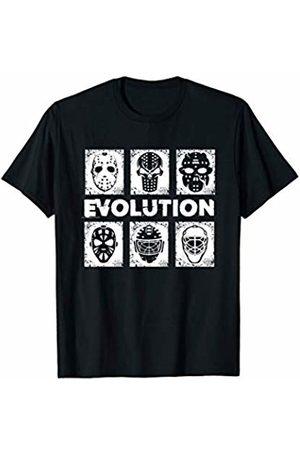 Shut Five Hole Apparel Mens Evolution Hockey masks vintage sports game gift T-Shirt