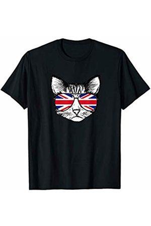 Miftees Patriotic UK Sunglasses Cat funny UK sunglasses kitty T-Shirt