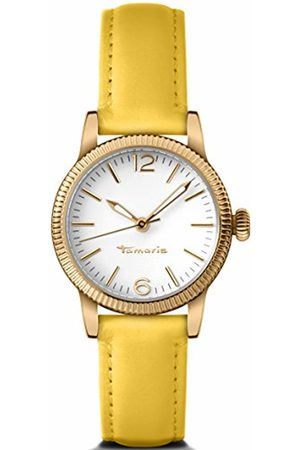 Tamaris Elli Women's Quartz Watch with White Dial Analogue Display and Leather Strap