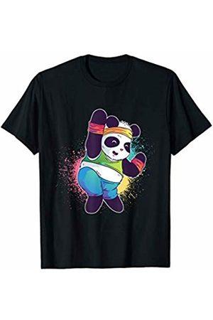 Fun Apparel & Co. Cute Fitness Gift Panda Dancing Workout T-Shirt
