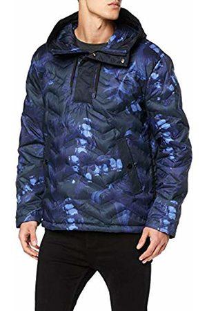 G-Star Men's Attacc Hooded Down Anorak Jacket, (Dark Delta Police Ao A)
