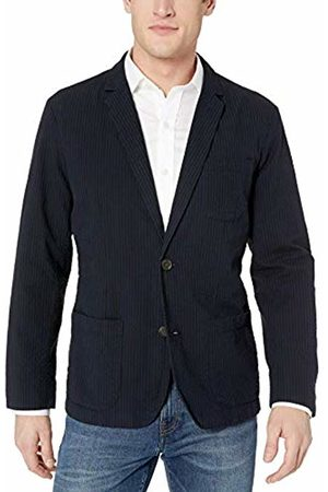 Goodthreads Men's Standard-Fit Seersucker Blazer, Navy/