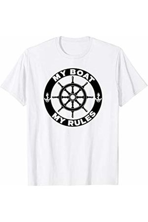 Miftees My BOAT My RULES Funny Boat Captain T-Shirt