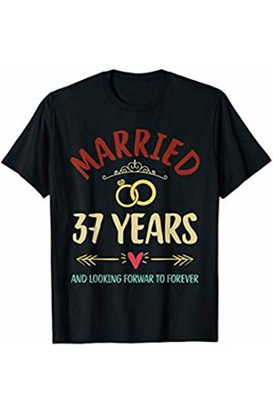 Medotukito 37th Wedding Anniversary Married Looking Forward To Forever T-Shirt