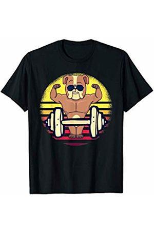 Jingle Fitness Gym Workout Men T-shirts - Funny Vintage Fitness Dog Glasses Gym Workout Sunset Gift T-Shirt