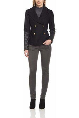 Manoukian Women's OTE4G253 Reefer Long sleeve Coat - - Gris (Hchrcl Co) - 12 (Brand size: 38)