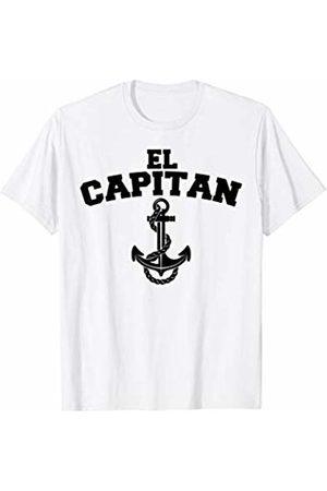 Miftees El Capitan funny Anchor Boat Captain T-Shirt